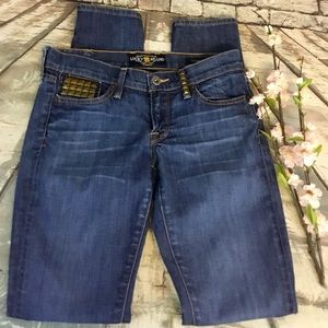 Lucky Brand Charlie Skinny Studded Accent Jeans